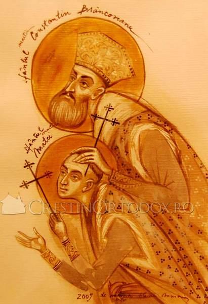 Sfantul Constantin Brancoveanu si Sfantul Matei, fiul sau