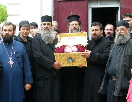 Pelerinaj cu capul Sfantului Ioachim din Itaca in Romania