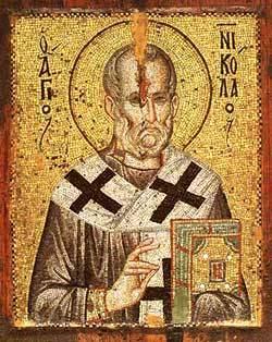 Icoana Sfantului Nicolae Streidas de la Manastirea Stavronikita