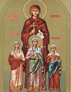 Sfanta Mucenita Sofia si fiicele sale, Pistis, Elpis si Agapis