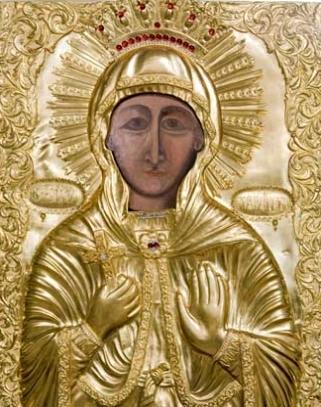 Icoana Sfintei Parascheva din Biserica Sfantul Gheorghe Nou