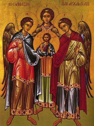 Troparul Sfintilor Arhangheli Mihail Si Gavriil