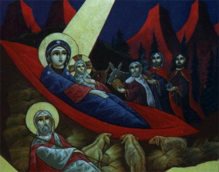 Inchinarea magilor in arta copta