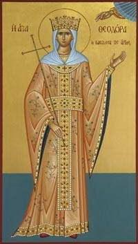 Sfanta Teodora, Imparateasa Artei