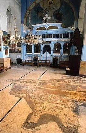 Harta in mozaic din Madaba