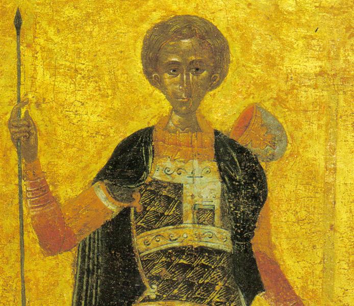 O veche icoana a Sfantului Mucenic Dimitrie