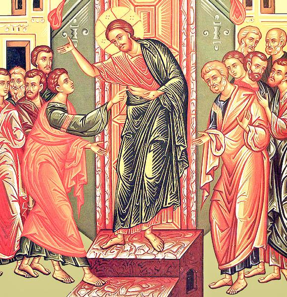 Invierea lui Hristos vazand...