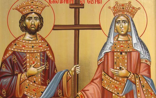 Sfintii Constantin si Elena, intre sfinti si oameni de Stat