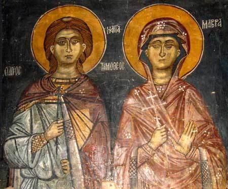 Acatistul Sfintilor Timotei si Mavra