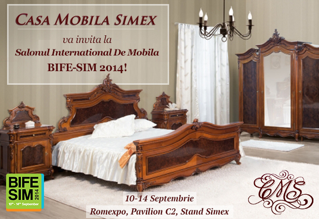 Casa Mobila Simex va astepta la BIFE-SIM cu mari reduceri