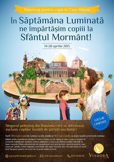 Pelerinajul Copiilor. In Saptamana Luminata, impartasiti copiii la Ierusalim!