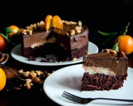 Tort de post cu mousse de ciocolata