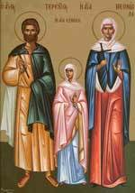 Sfintii Mucenici Terentie si Neonila sotia sa si cei cei sapte Fii; Sfantul Firmilian Episcopul