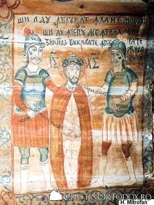 Biserica de lemn din Baita - Batjocorirea lui Hristos