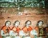 Biserica de lemn din Bulgari - Pilda celor zece fecioare (detaliu)