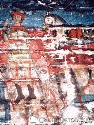 Biserica de lemn din Cuci - Jertfa lui Avraam (detaliu)