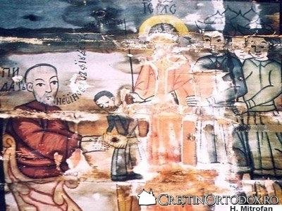 Biserica de lemn Sfintii Arhangheli din Cupseni - Judecarea lui Hristos la Pilat