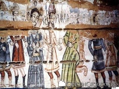 Biserica de lemn din Runcu Salvei - Iisus adus in fata lui Caiafa