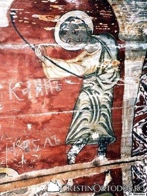 Biserica de lemn din Runcu Salvei - Cain il ucide pe Abel