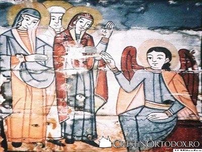 Biserica de lemn din Sarata - Mironositele la Mormant