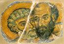 Sfintii apostoli Petru si Ioan la mormant