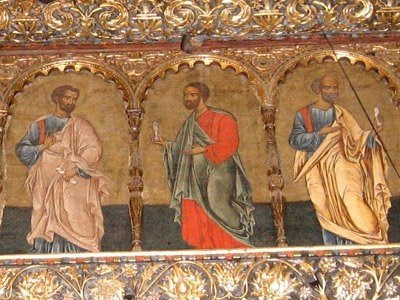 Manastirea Voronet - Sfintii Apostoli (detaliu catapeteasma)