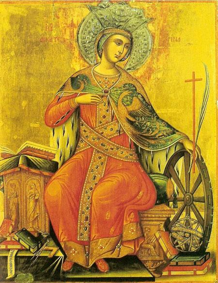 Pomenirea Sfintei Mucenite Ecaterina