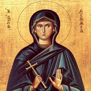 Sfanta Mucenita Eugenia; (Ajunul Craciunului)