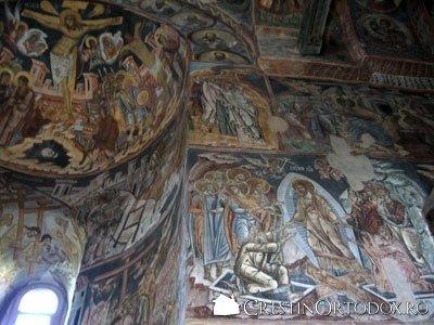 Manastirea Probota - Pictura in fresca