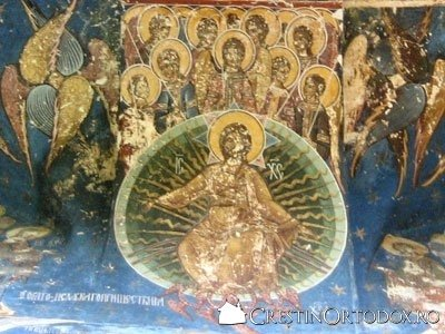 Manastirea Humor - Hristos (detaliu din Pridvor)