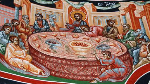 Cina cea de Taina - Instituirea Sfintei Euharistii