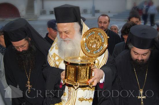 Moastele Sfantului Grigorie Palama aduse de catre IPS Panteleimon