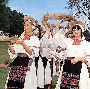 Imagini de colinda in cantecul ceremonial de secera