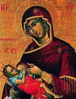 Icoana Galactotrofusa - Maica Domnului care Alapteaza