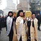 Racla cu moastele Sfantului Dimitrie Basarabov - Procesiunea Calea Sfintilor