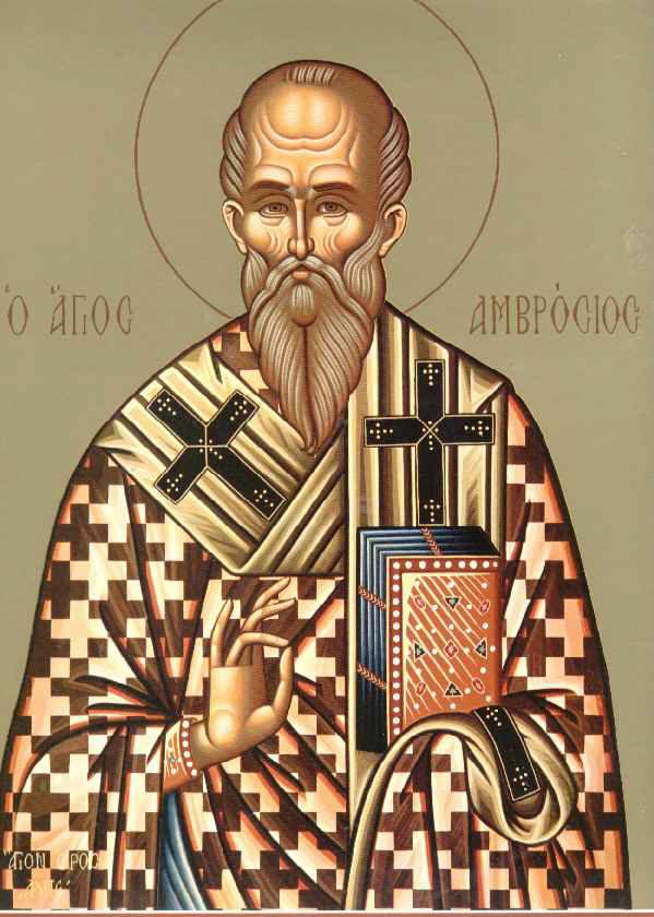 Sfantul Ambrozie, episcopul Mediolamului