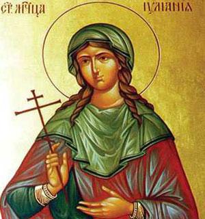 Sfanta Iuliana; Sfantul Temistocle
