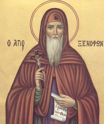 Sfantul Xenofont, sotia sa, Maria, si fiii lor Arcadie si Ioan