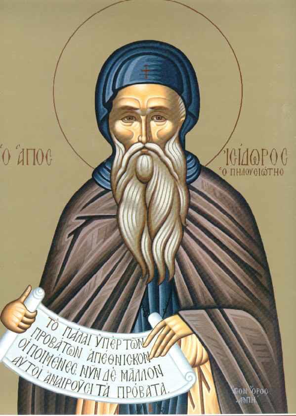 Sfantul Isidor Pelusiotul - 04 februarie