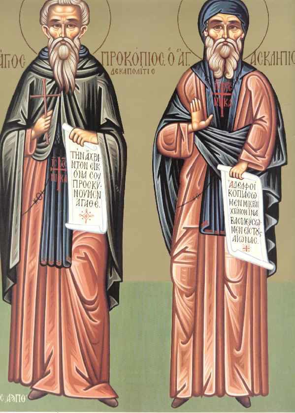 Sfantul Procopie Decapolitul; Sfantul Talaleu; Inceputul Postului Sfintelor Pasti