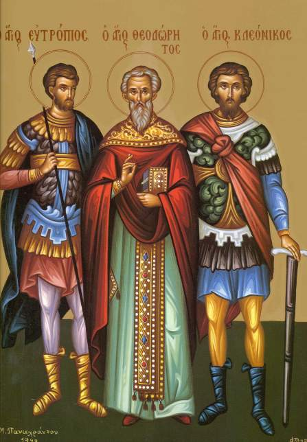Sfintii Mucenici Eutropiu, Cleonic si Vasilisc