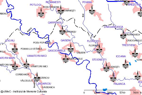 Ruinele fostului Schit Strambul( adresa: 1 )-GAISENI (com. GAISENI)