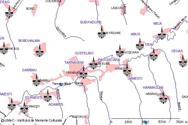 Biserica( adresa: str. Principala 152 )-CUSTELNIC, municipiul TARNAVENI