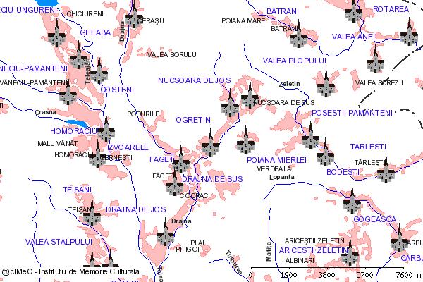 Ruinele Bisericii Sf. Dumitru,Sf. Paraschiva (amplasata in cimitir)-OGRETIN (com. DRAJNA)