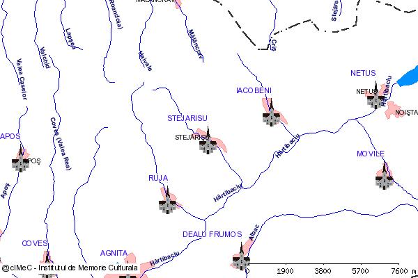 Ruinele Bisericii fortificata( adresa: 196 )-STEJARISU (com. IACOBENI)