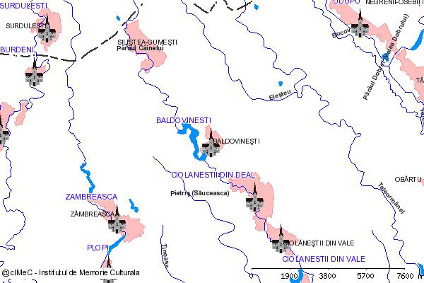 Ruinele Bisericii fostei Manastiri Ciolanesti-BALDOVINESTI (com. CIOLANESTI)