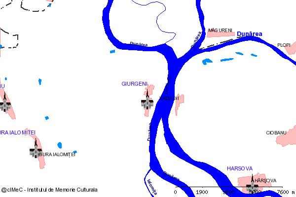 Ruinele Bisericii nr. 1 (la km. 104 pe DE Bucuresti - Constanta (DN2), langa fostul sat Piua Petrii)-GIURGENI (com. GIURGENI)