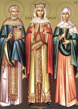 Sfantul Vasile de Ancira, Sfanta Drosida