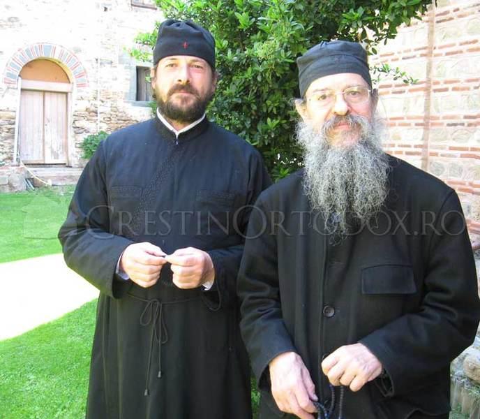 Manastirea Filoteu - Parintele Gheorghe si Parintele Ghelasie