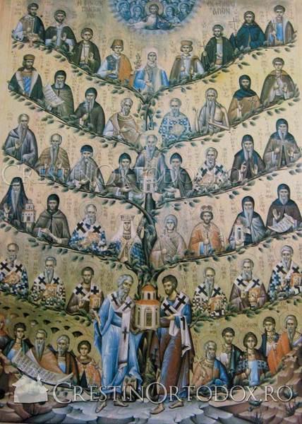 Manastirea Filoteu - Icoana cu Sfintii Greciei